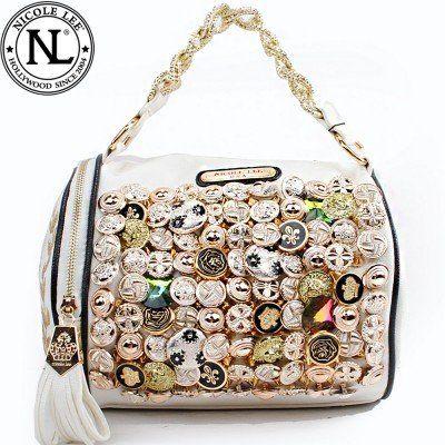 Nicole Lee Buttons Design Barrel Style Handbag Nicole Lee http   www.amazon c37a791746c31
