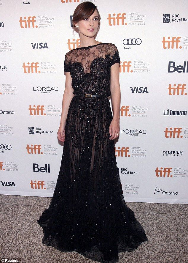 From Russia with love! Keira Knightley dazzles in black at Toronto ...