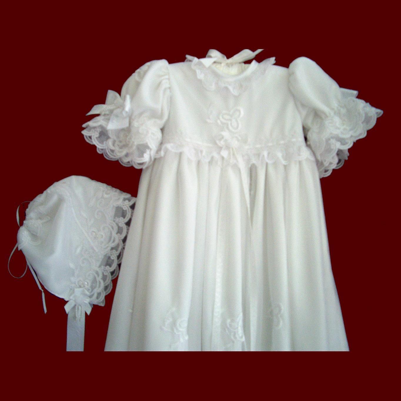 0183969cf Ribbon+work+christening+bonnets   beaded and embroidered netting girls  designer christening gown bonnet