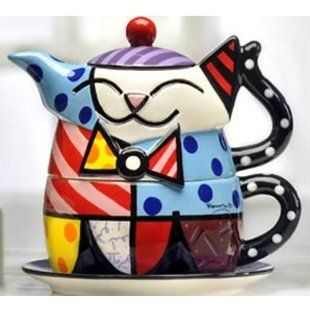 Kitchenware for Cat Lovers: Romero Britto Tea for One Set
