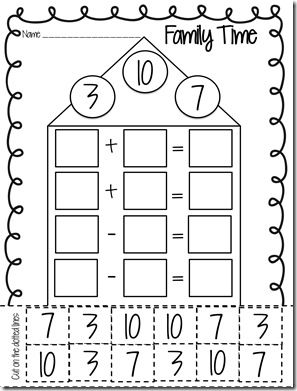 Numbers -Fact Family / FREE Printable Worksheets – Worksheetfun ...