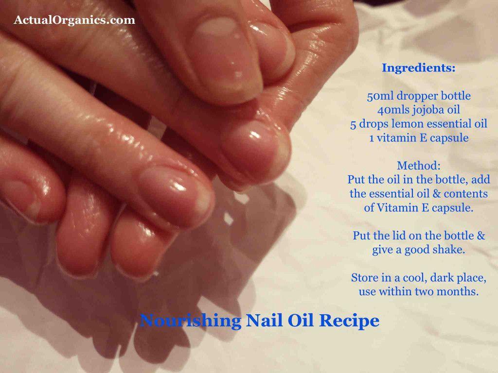 nourishing nail oil recipe using simple edible ingredients: jojoba ...