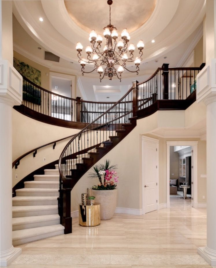 Pin By Trinidad On Home Dream House Plans Dream House Interior Luxury Staircase