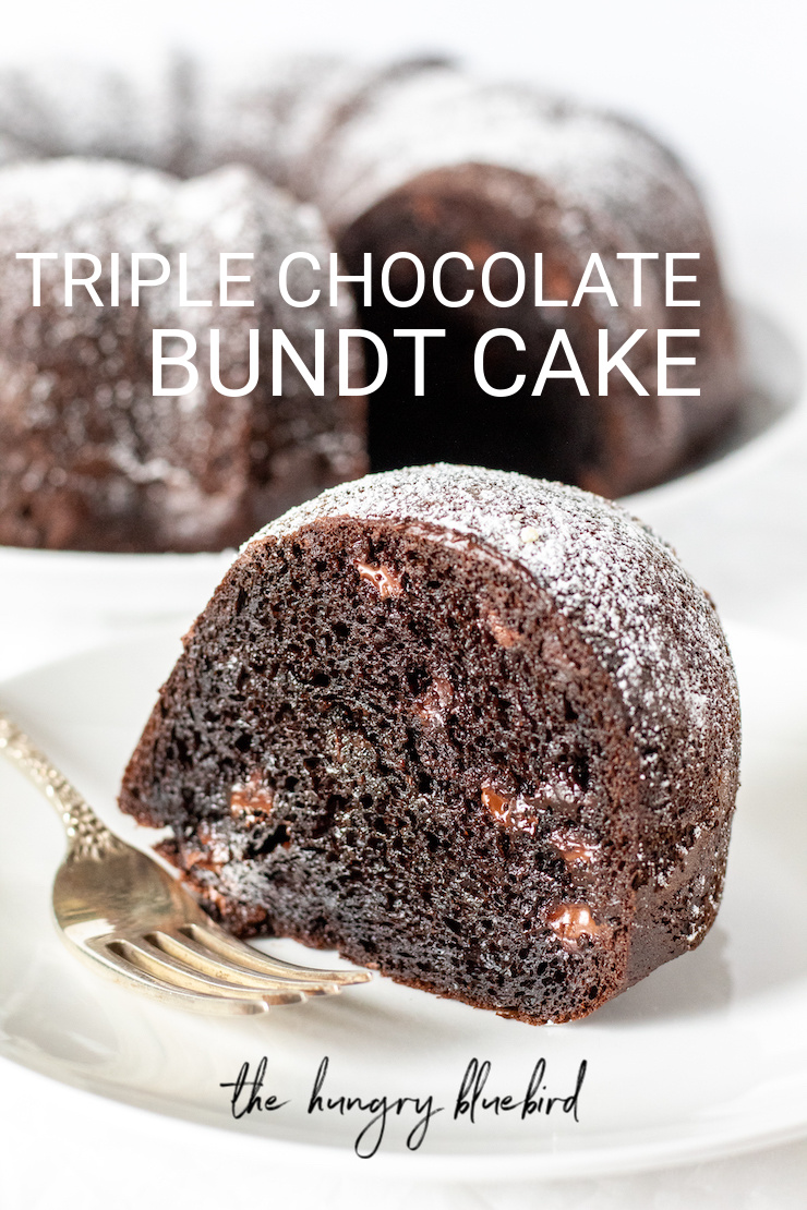 Easy Triple Chocolate Bundt Cake The Hungry Bluebird Recipe In 2020 Sour Cream Cake Chocolate Cream Cake Chocolate Bundt Cake