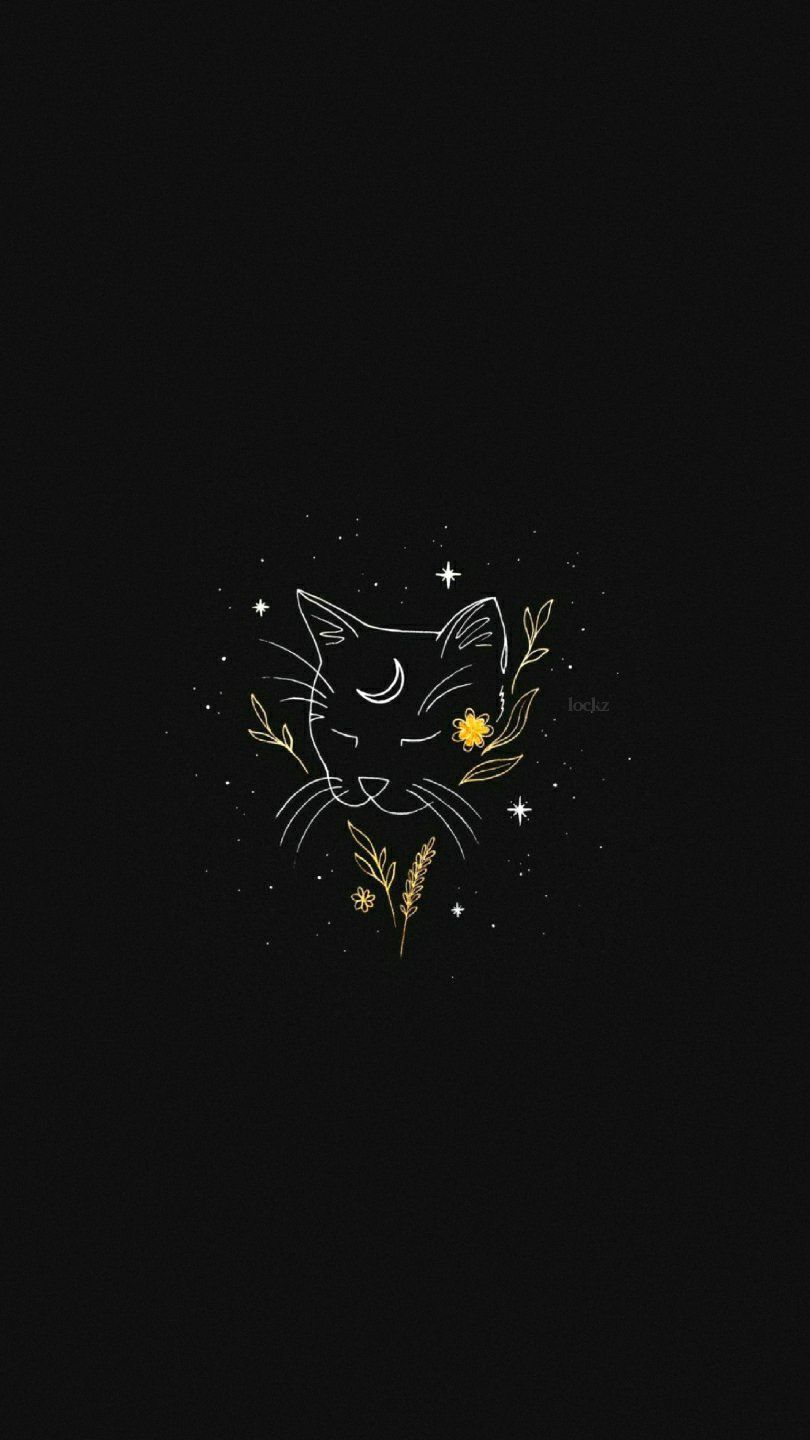 Cute Aesthetic Backgrounds Black : aesthetic, backgrounds, black, Lockscreens, Black, Wallpaper,, Witchy, Aesthetic, Wallpaper