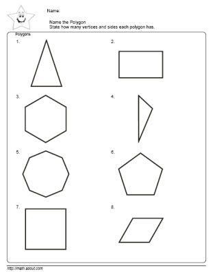 Worksheets Identifying Polygons Worksheet name the polygon worksheet samsungblueearth 1000 images about on pinterest regular geometry worksheets
