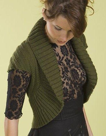 Easy Shrug Knitting Patterns Knutty Knitting Pinterest Shrug