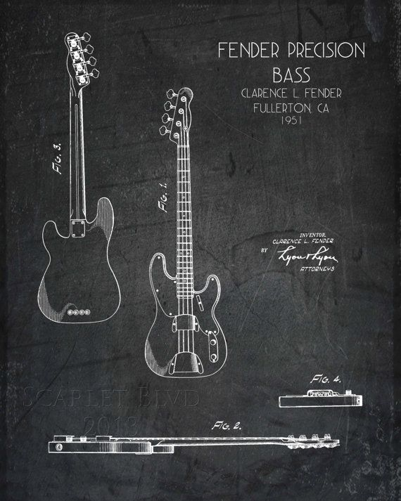 Or this one for jerrisfender precision bass guitar blueprint fender precision bass guitar blueprint malvernweather Gallery