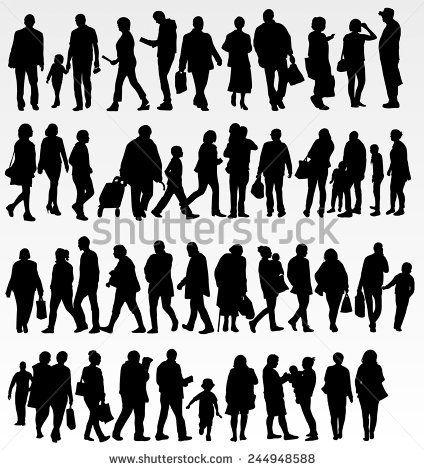 Group Of People Vector Silhouette Free Silhouette People Shadow Silhouette Boy Silhouette