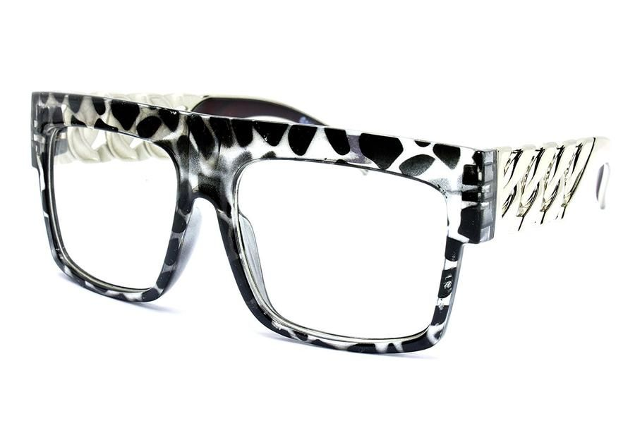 1bd9d42c5b1 Thick Frame Rapper 80 s 90 s Retro Hip Hop DJ Large Design Squared Clear  Lens Glasses