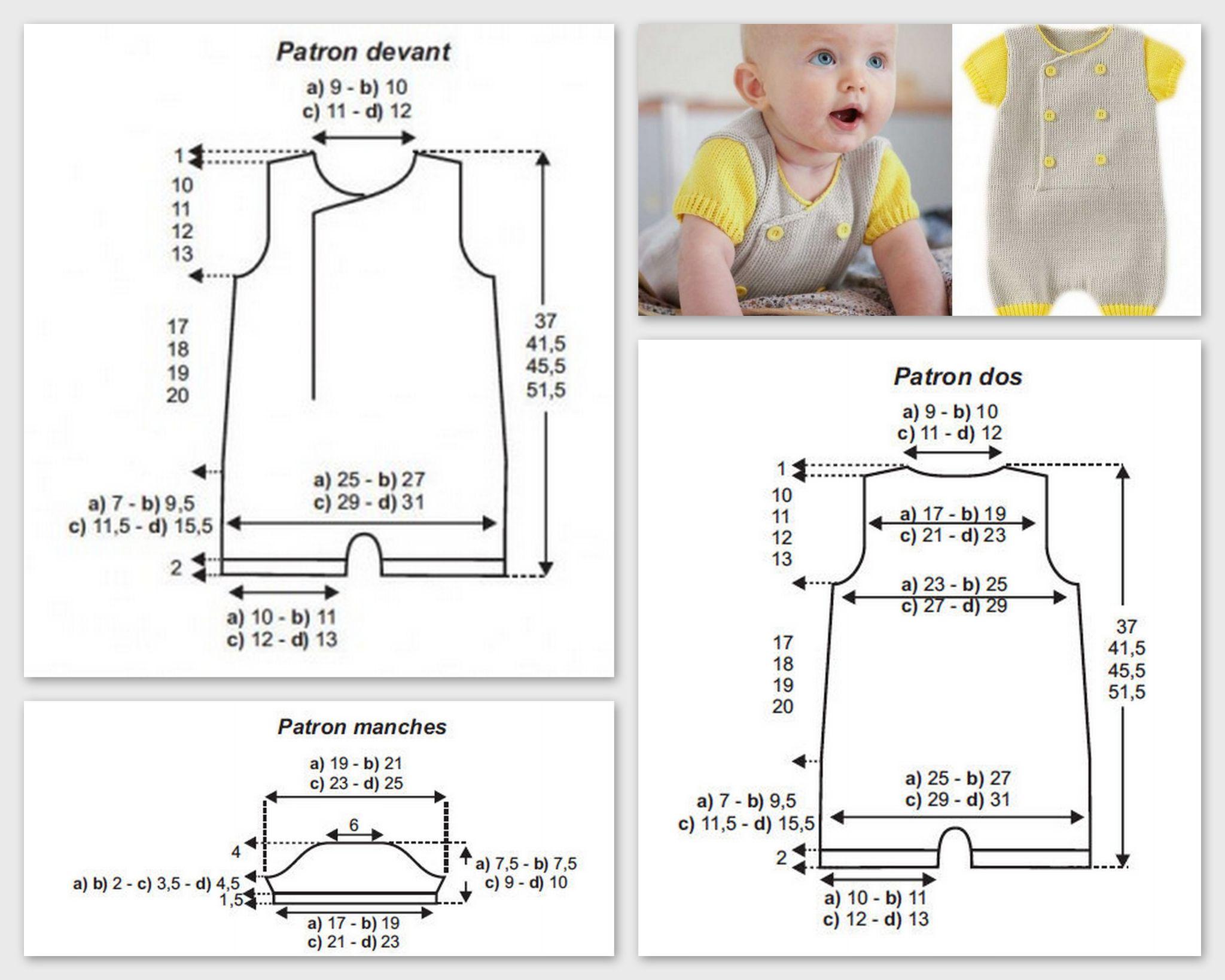 combinaison bébé gris et jaune