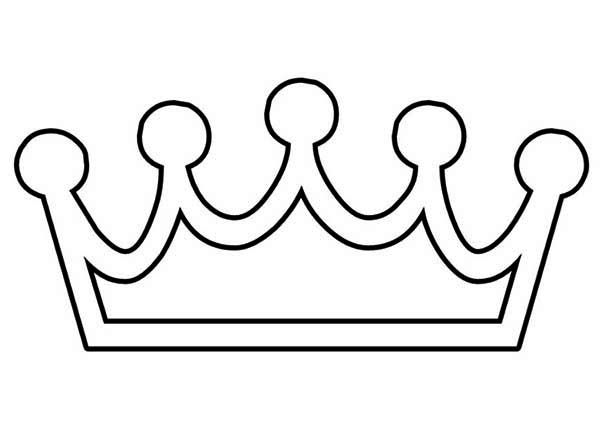 Hand Made Princess Crown Coloring Page Netart Crown Clip Art Crown Template Coloring Pages
