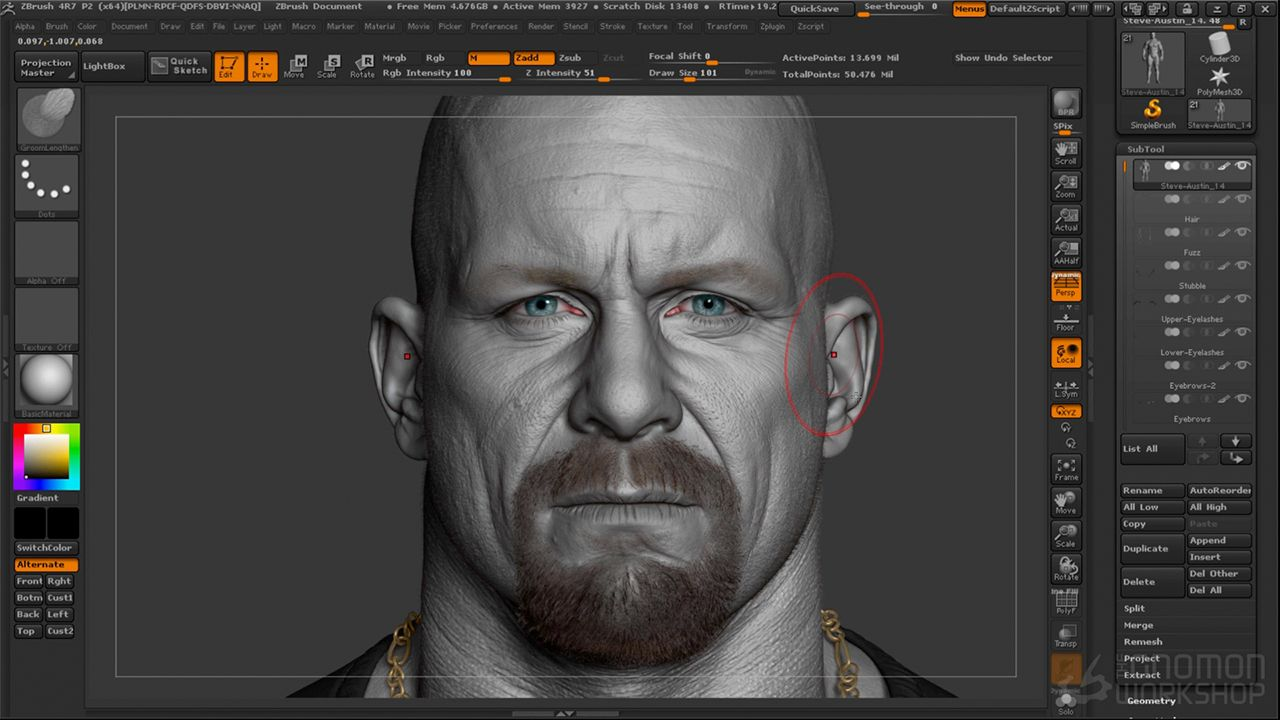 Creating hyper realistic characters in zbrush escultura