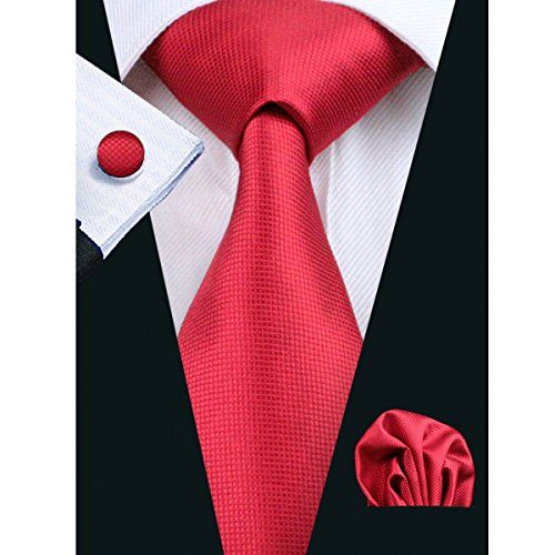 Slim tie - Woven Jacquard silk in solid red Notch vq7cgs