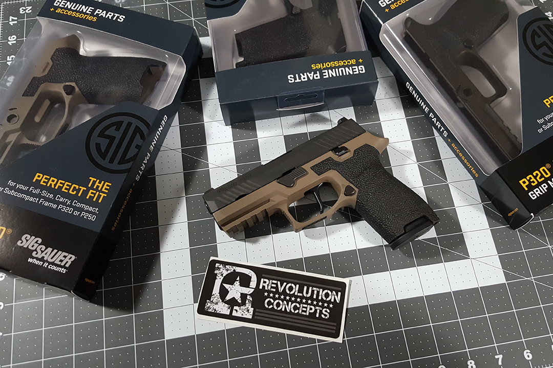 Custom FDE Stippled Sig Sauer P320 Compact | Hunt/ Fish