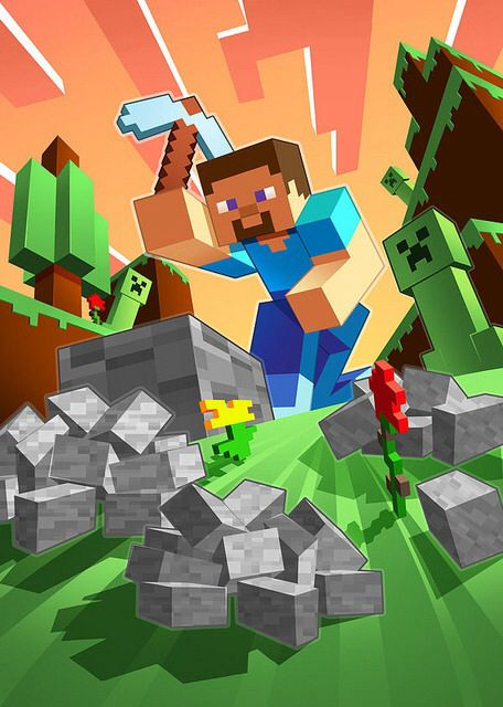 3645207bc4 A Minecraft illustration I ve made for a magazine. It was supposed to  resemble official Minecraft art.