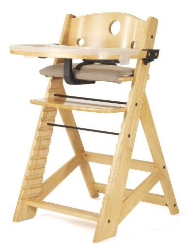 HAUCK NATURAL BEIGE BETA GROW WITH YOUR CHILD WOODEN HIGH CHAIR /& SEAT COVER