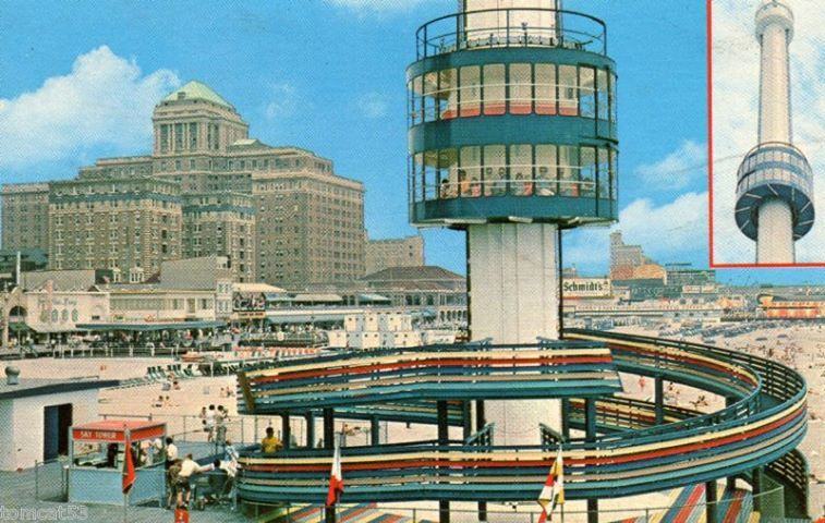 Sky Tower On Central Pier In The 70 S Great Vacation Spots Atlantic City Boardwalk Atlantic City