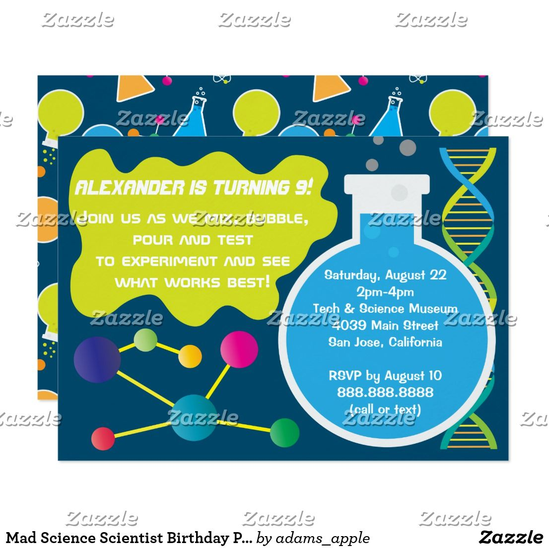 Magnificent mad scientist party invitations gallery invitation fine science themed birthday party invitations festooning filmwisefo