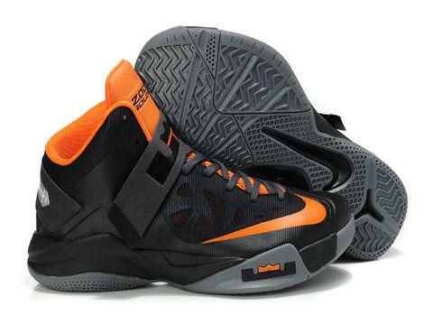 Nike Zoom LeBron Soldier VI 6 Black Orange,Style code:525017-800,
