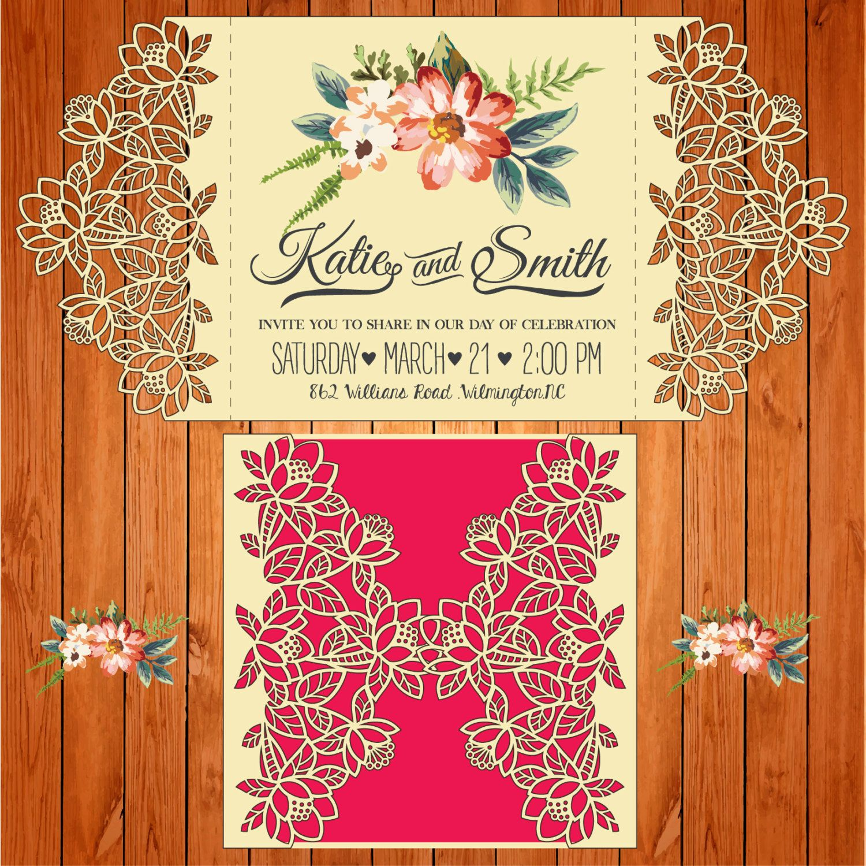 Invitación de la boda tarjeta plantilla, figuras (ai, eps, svg ...