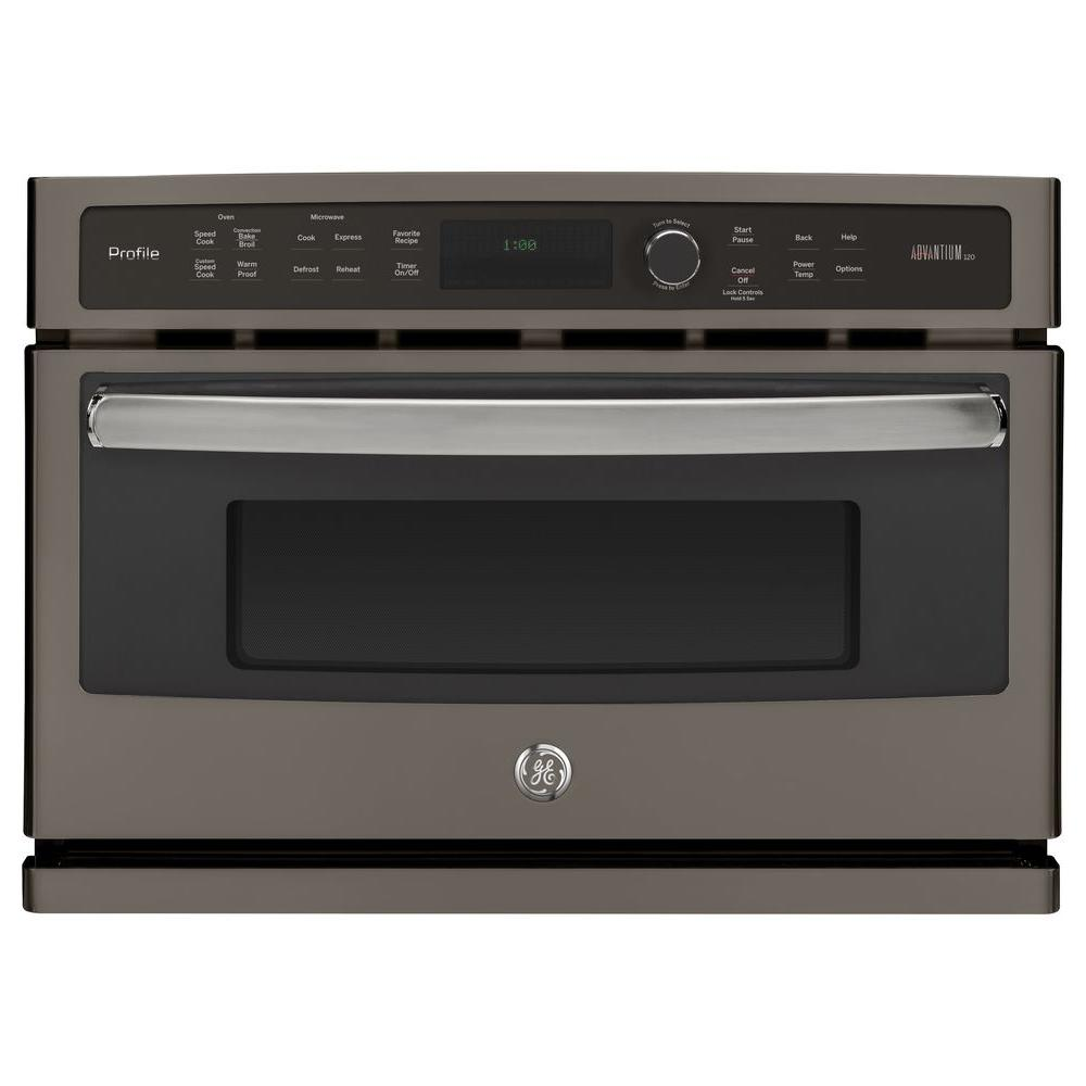 Ge Profile 27 In Single Electric Wall Oven With Advantium Cooking
