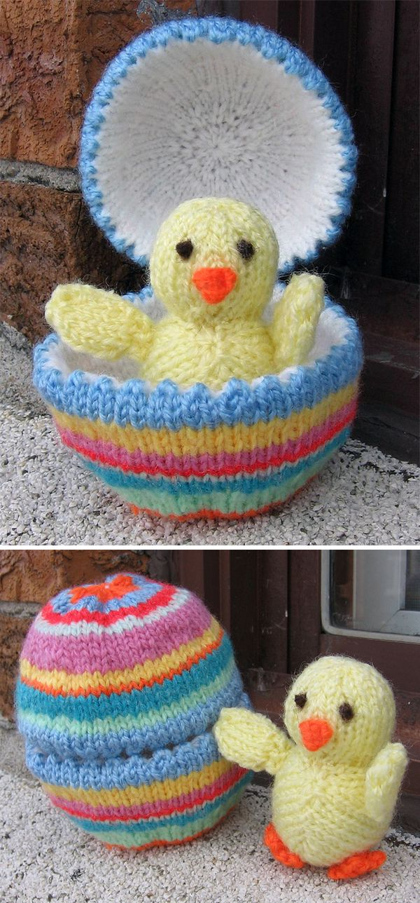 Free Last Minute Easter Knitting Patterns | Egg shells, Darts and ...