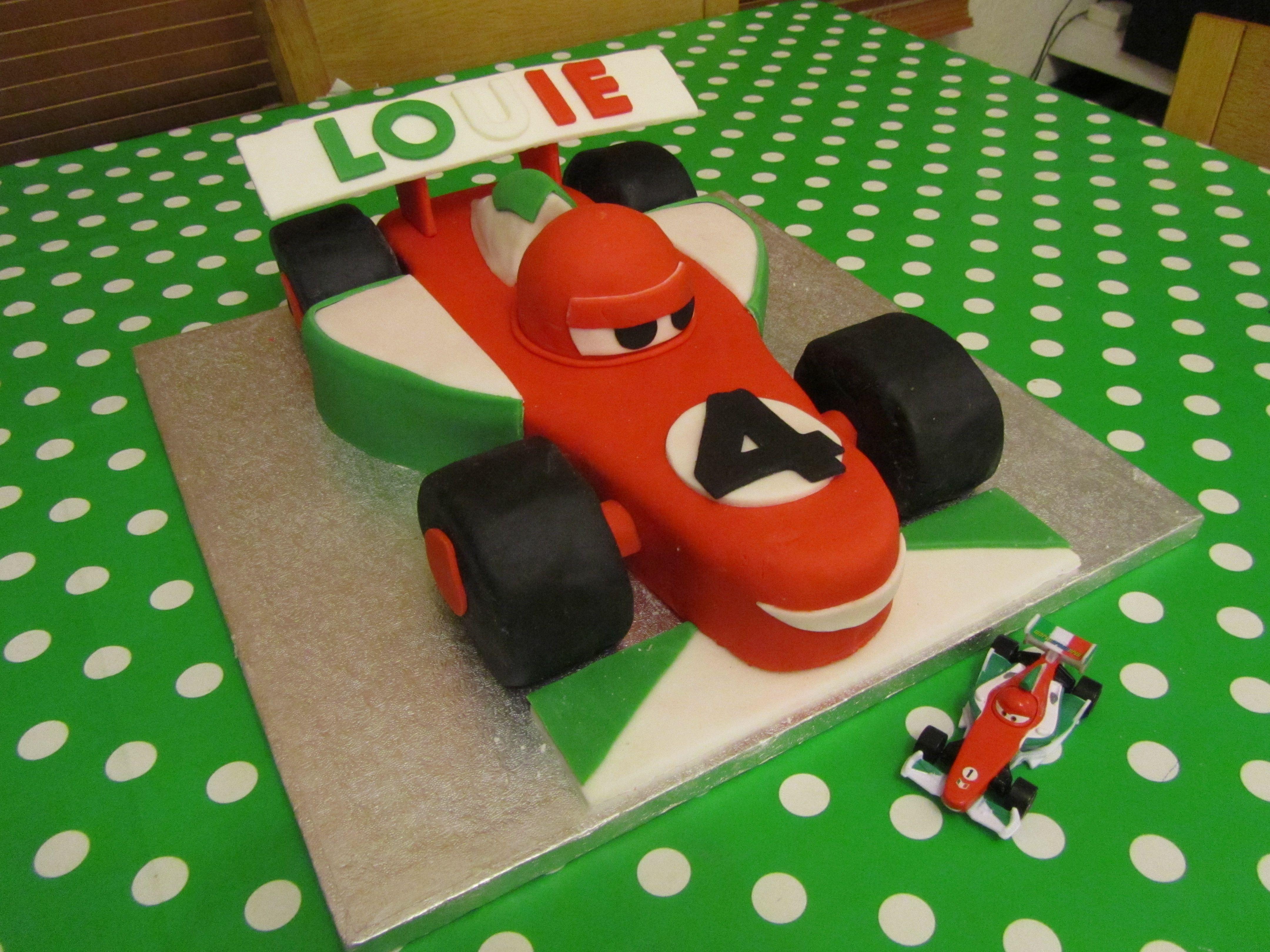 Cars 2 Francesco Bernoulli Birthday Cake