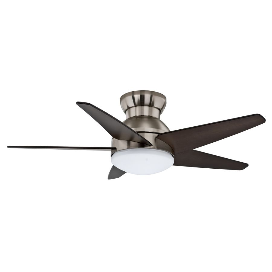 Casablanca Isotope 44 In Brushed Nickel Flush Mount Indoor Residential Ceiling Fan With Light Kit