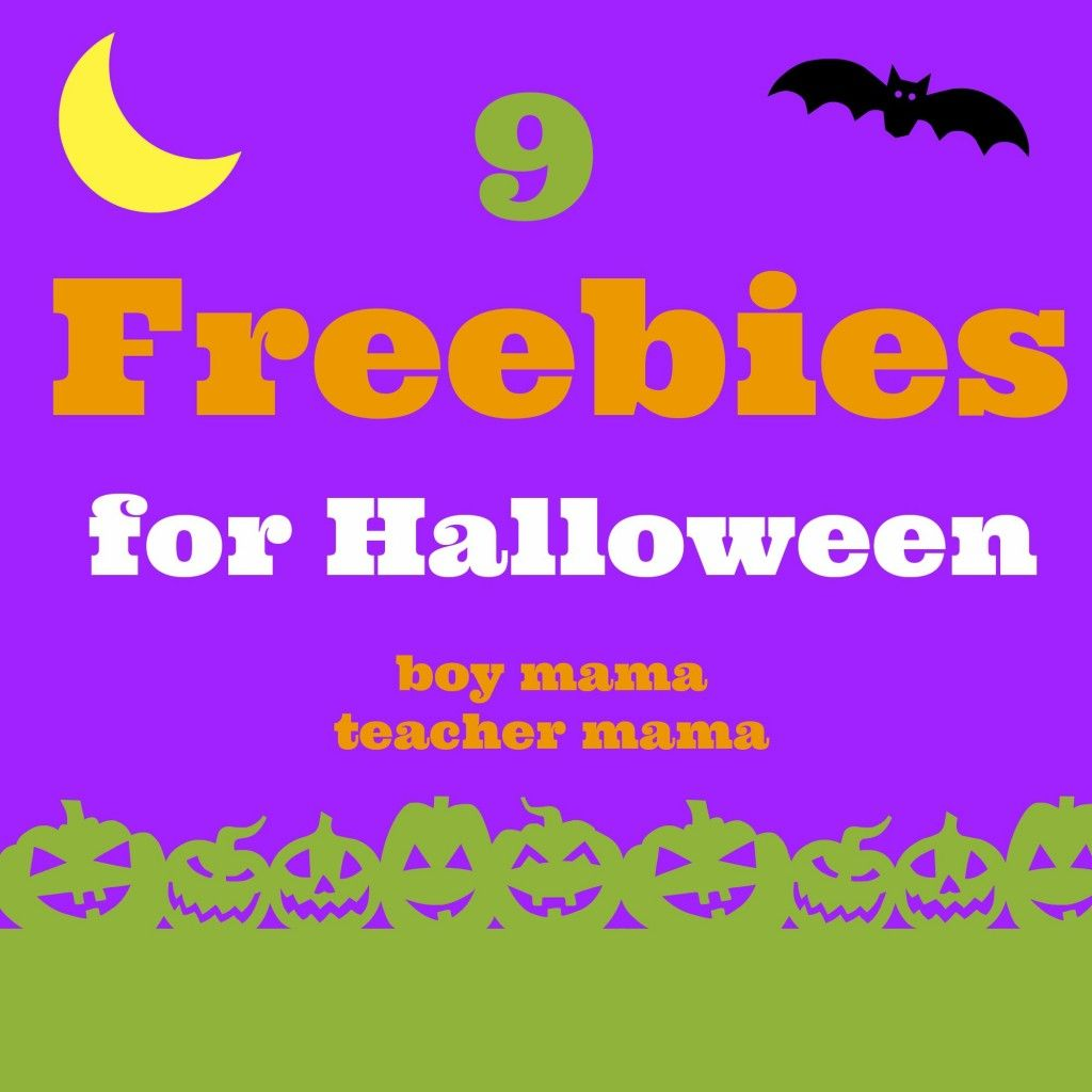 Teacher Mama 9 Freebies For Halloween And The After