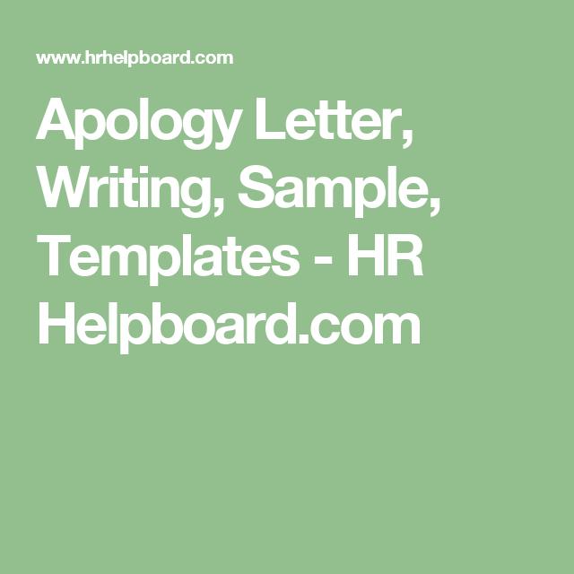 Apology Letter Writing Sample Templates  Hr HelpboardCom