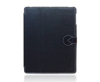 toffee cases genuine leather Slim Folio for the new iPad  available in black or red
