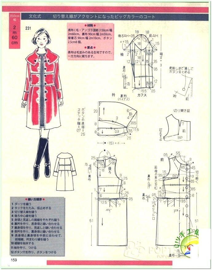 Coat , patterns instructions | CAPE, JACKET, CARDI, PONCHO ...