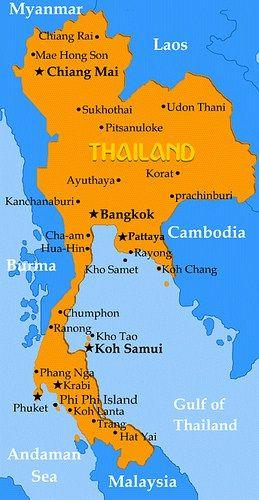 Mapa Fisico Y Politico De Tailandia Tailandia Viajes A