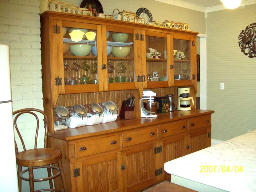 Elegant Antique Hutch Bakers Cupboard