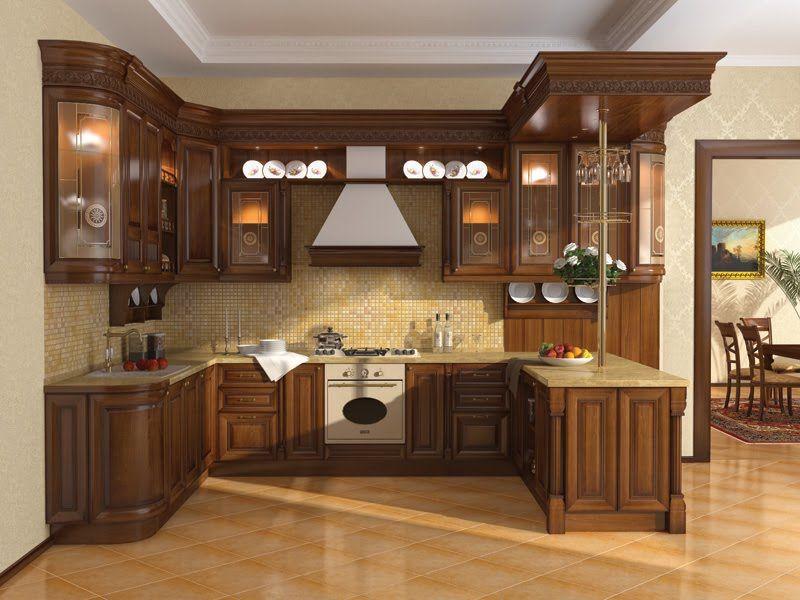 Stunning Kitchen Cupboard Design Idea In Small Space With Dark Brown Color Decor In Tradi Kitchen Cabinet Design Simple Kitchen Cabinets Kitchen Design Gallery