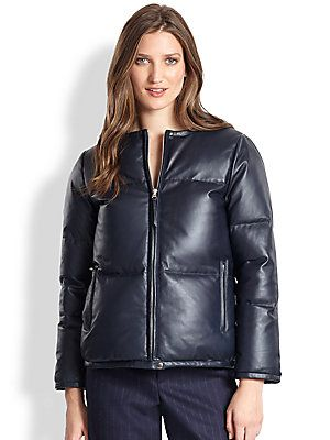 Steven Alan Nanette Quilted Leather Puffer Jacket