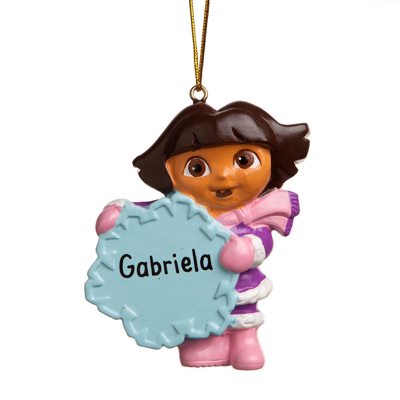 Personalized ornaments for kids - Personalized Dora The Explorer Ornament