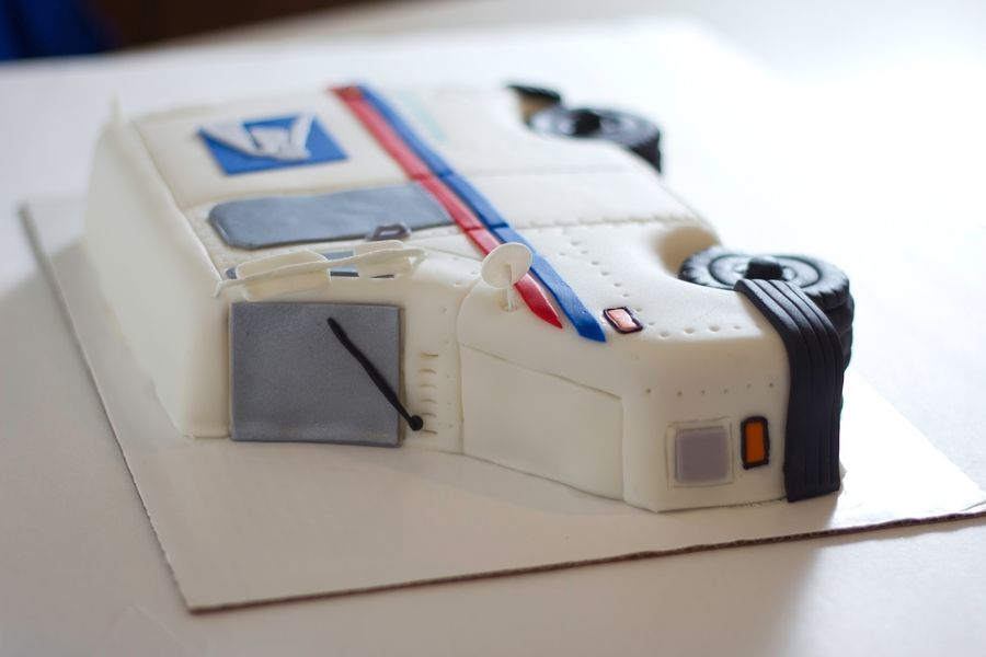 Usps Mail Truck Cake Cake Outside The Box on Cake Central postal
