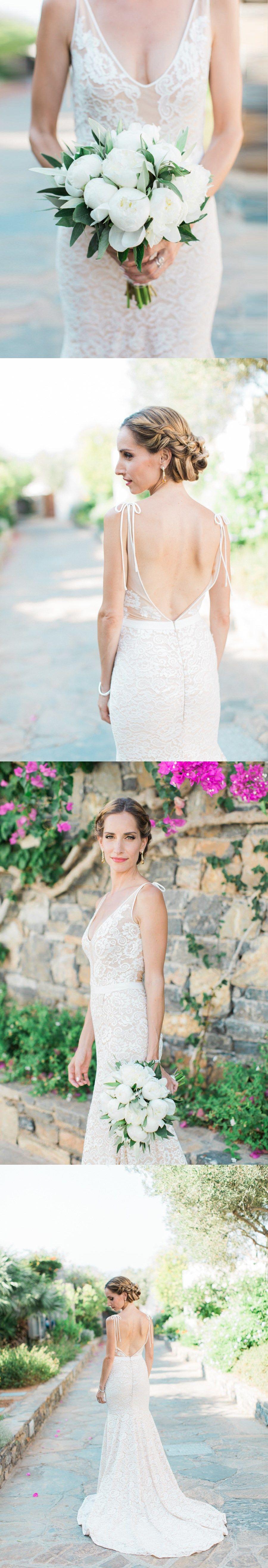 Mermaid open back wedding dresses spaghetti straps sweep train lace