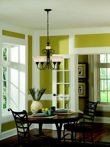 How to Decorate with Green | Green dining room, Green ...