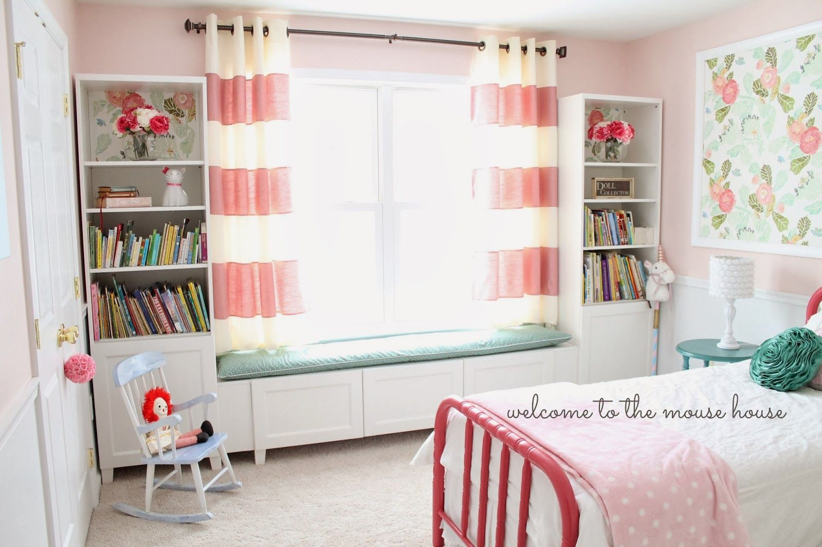 Welcome To The Mouse House Ainsley 39 S Anthropologie Inspired Bedroom Faux Built Ins Using Ikea