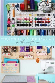 Photo of #Craft #craftroom #orga #organization #Pegboard #pegbo