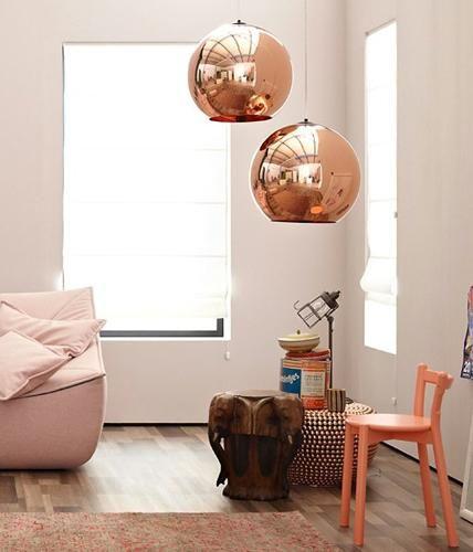 Kugelrunde Kupfer Leuchte Copper Shade Von Tom Dixon Bild 16 Interior Room Interior Living Room Inspiration