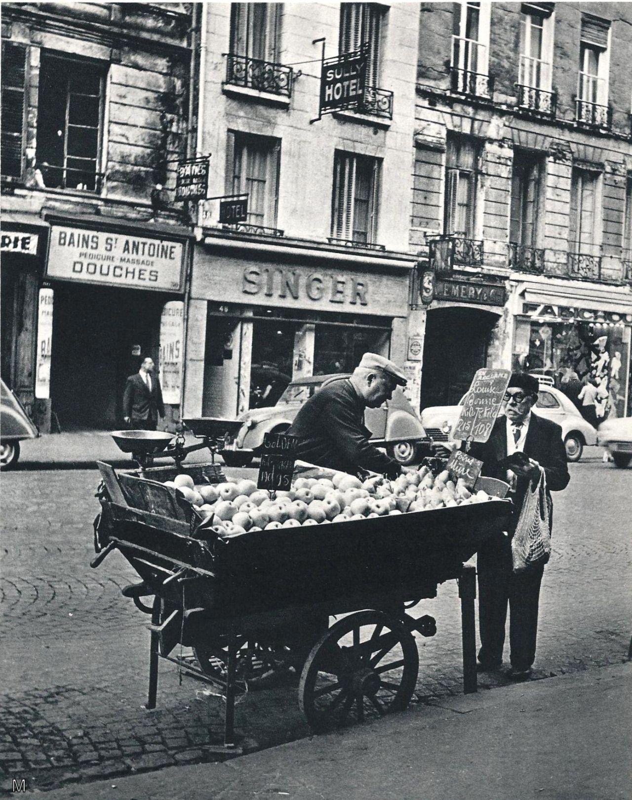 Marchand De Primeurs Paris 1950 Photos Anciennes Paris Photo