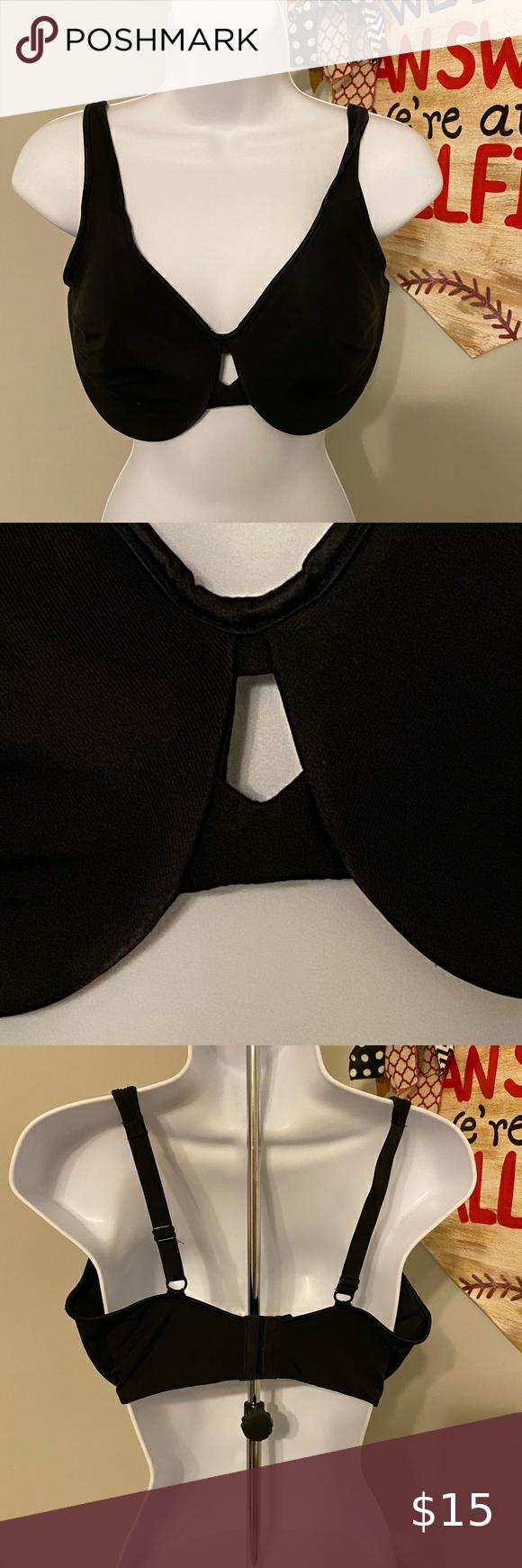 Lilyette 904 Plunge Into Comfort Minimizer Bra This is a Lilyette Plunge Into Comfort Minimizer Bra.  #0904.  Black.  Underwire.  Non-padded.  Size 38DDD.  It's in great condition. Lilyette Intimates & Sleepwear Bras