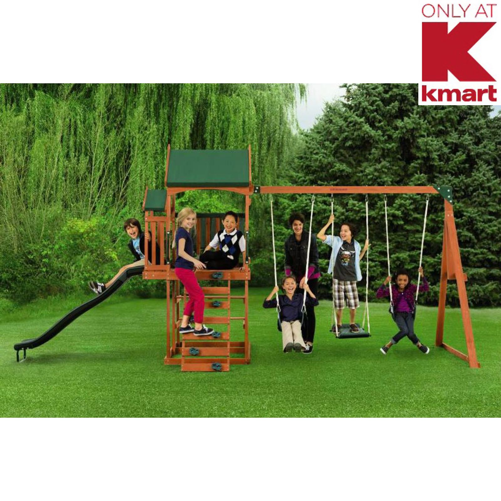 Timber Play Ii Swing Set Backyard Playtime Fun For Kids From Kmart 303 00