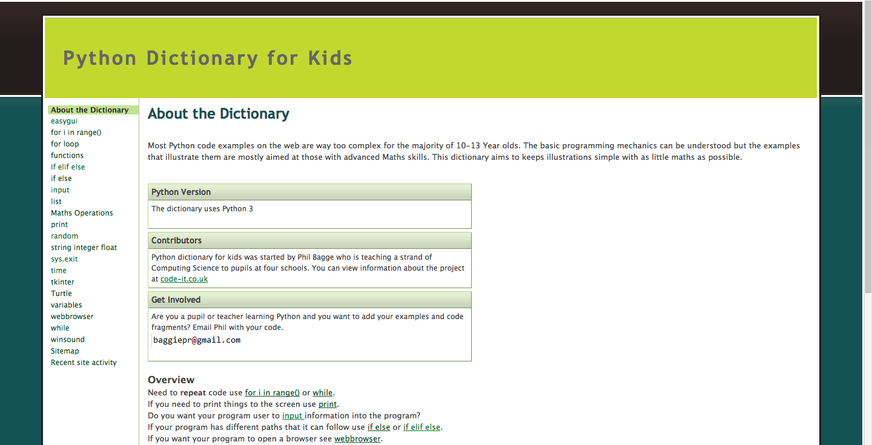 Python Dictionary for Kids   Programming   Python