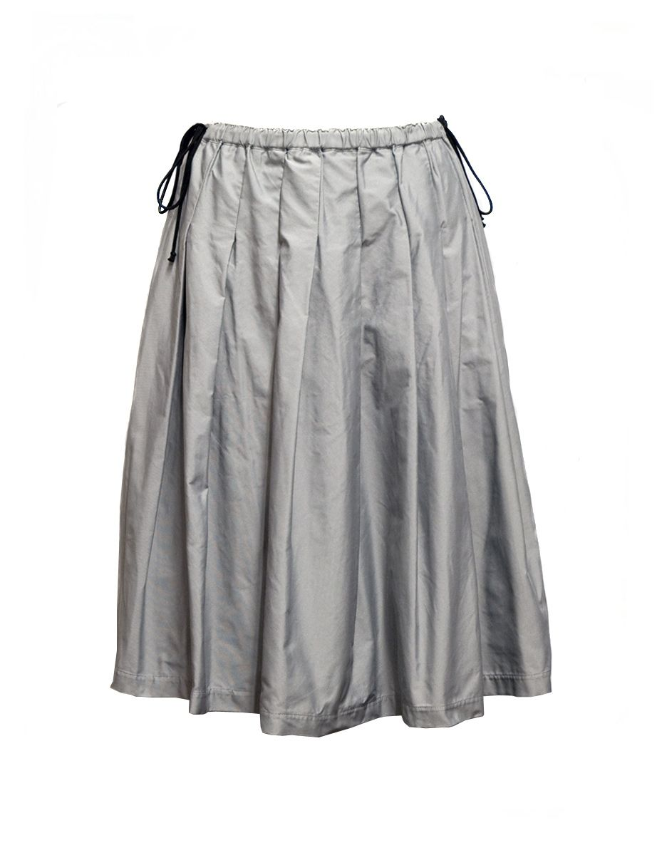 Miyao grey skirt  One pocket light grey skirt with tighten lace  Composition: 100% polyester   Made in Japan
