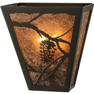 Pinecone Wall Sconce With Silver Mica Wall Sconces Pine Walls Meyda